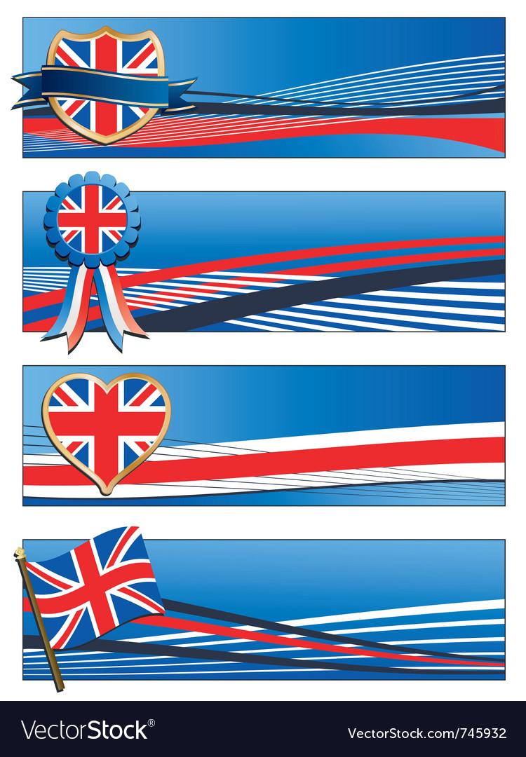 Uk banners vector