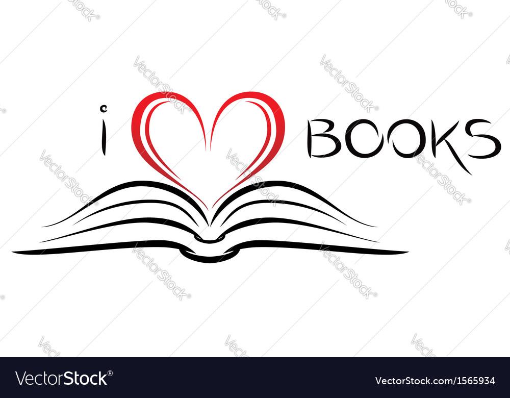 I love books vector