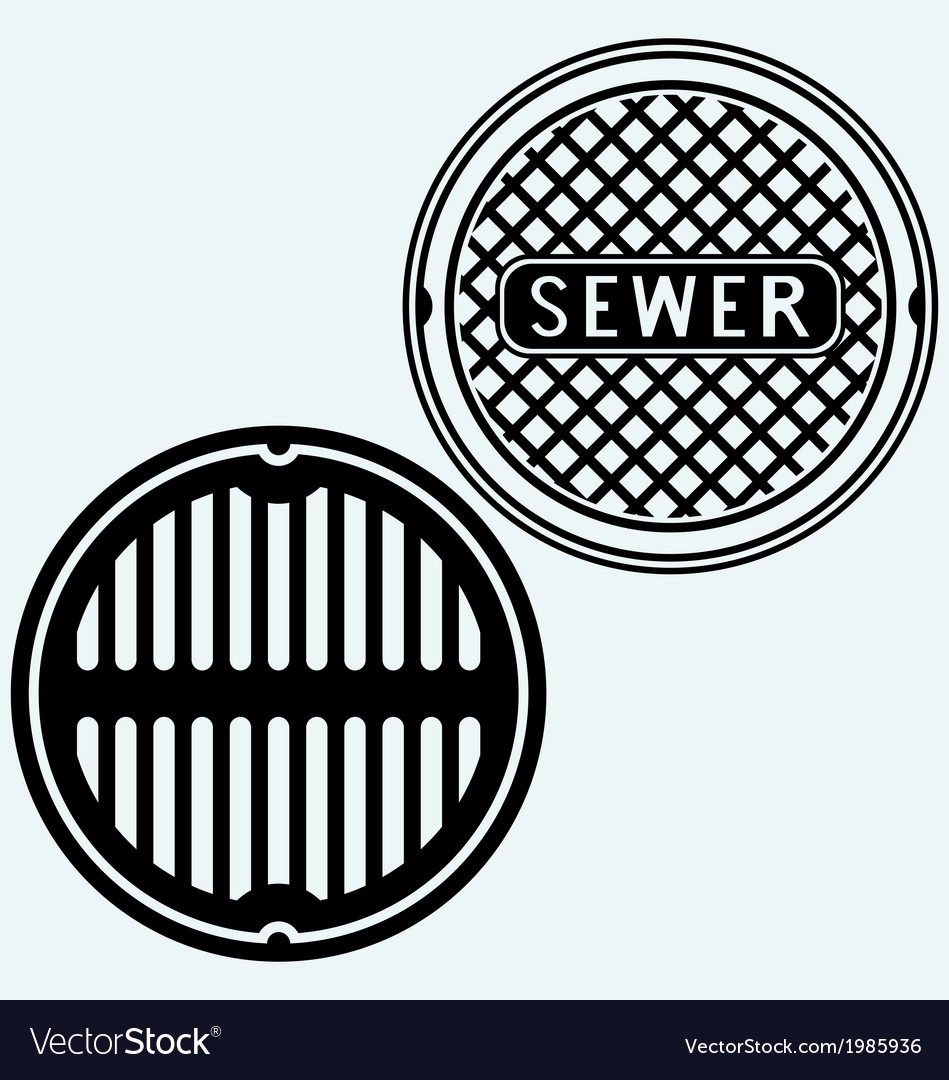 Sewer manhole vector
