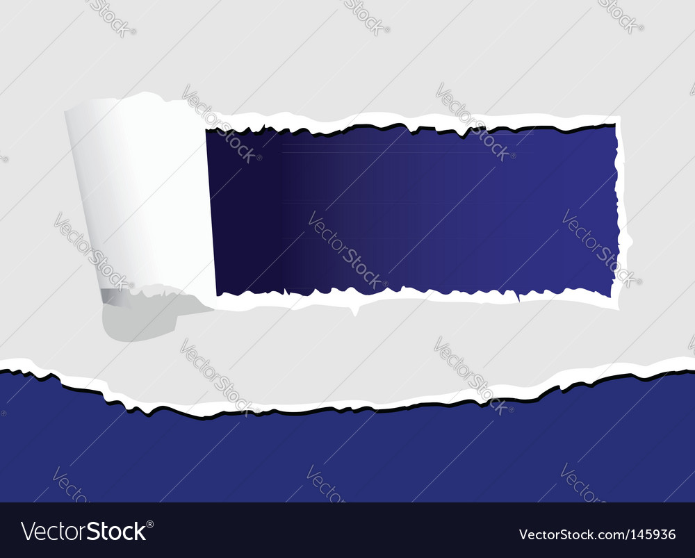 Torn paper with hole vector