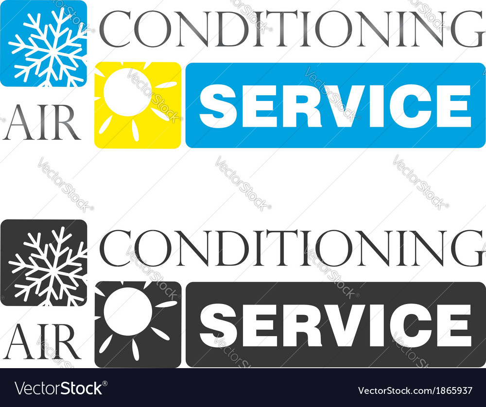 Air conditioning service vector