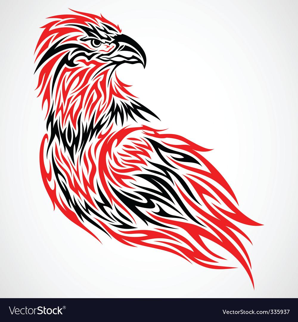 Tribal eagle vector