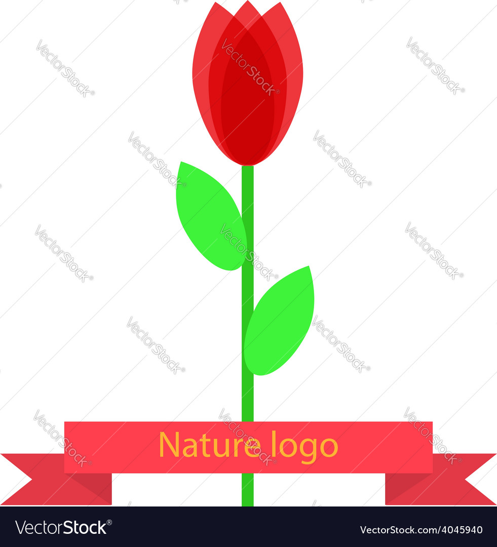 Abstract flower logo for your company vector