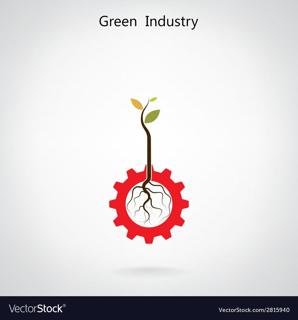 Green industry concept vector