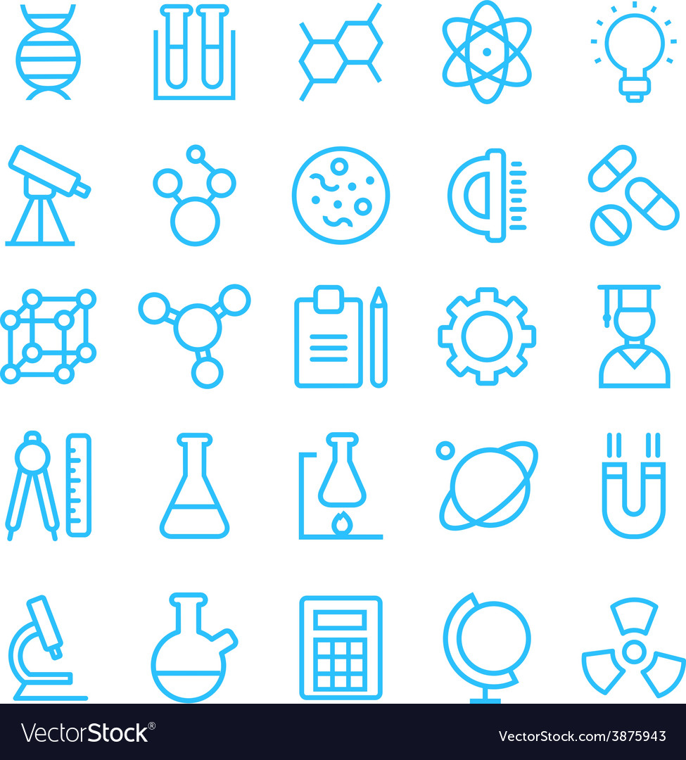 Science icon set for your products and projects vector
