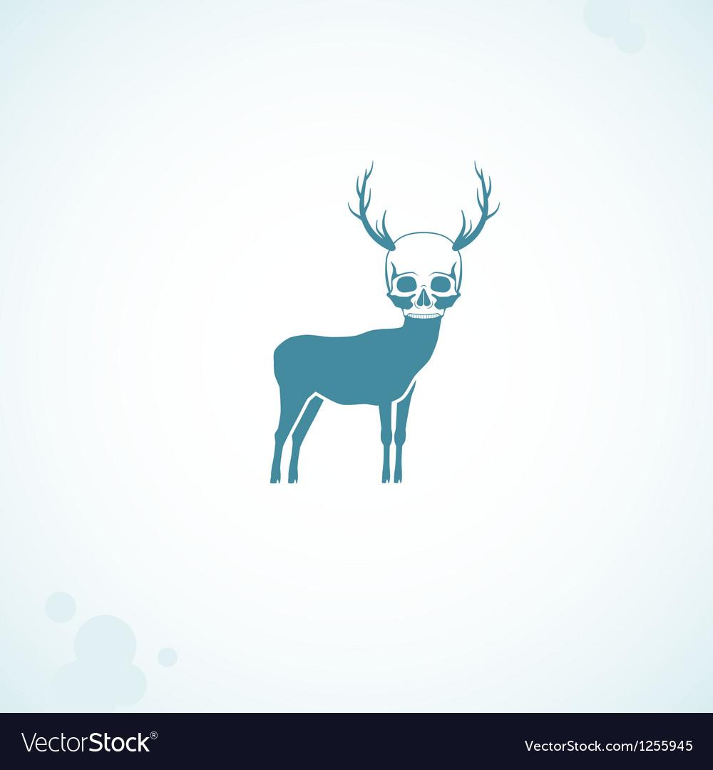 Deer skull head vector