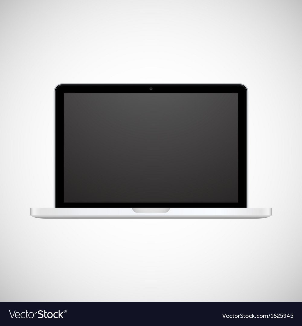 Laptop isolated on white background vector