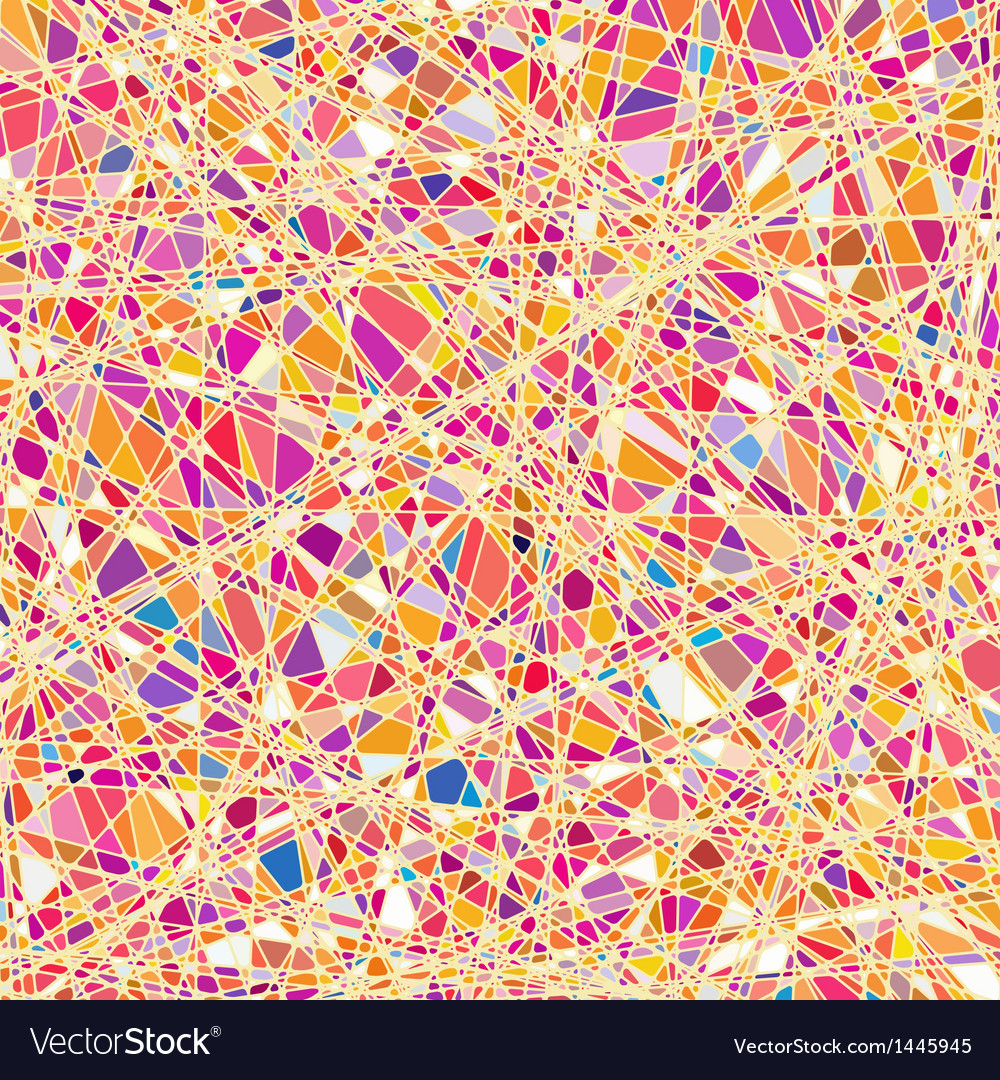 Stained glass texture in a orange tone eps 10 vector