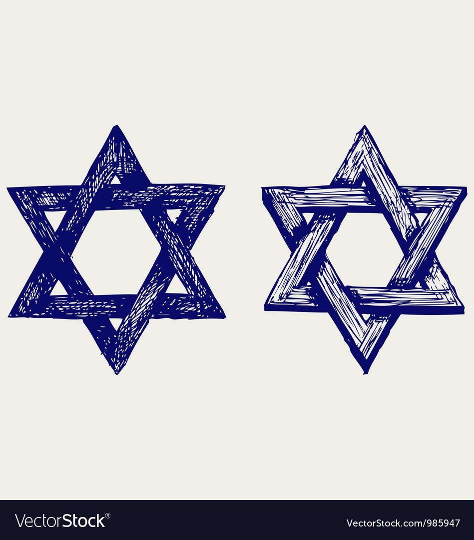 Judaic religion vector