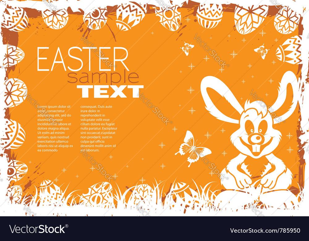 Easter grunge frame vector