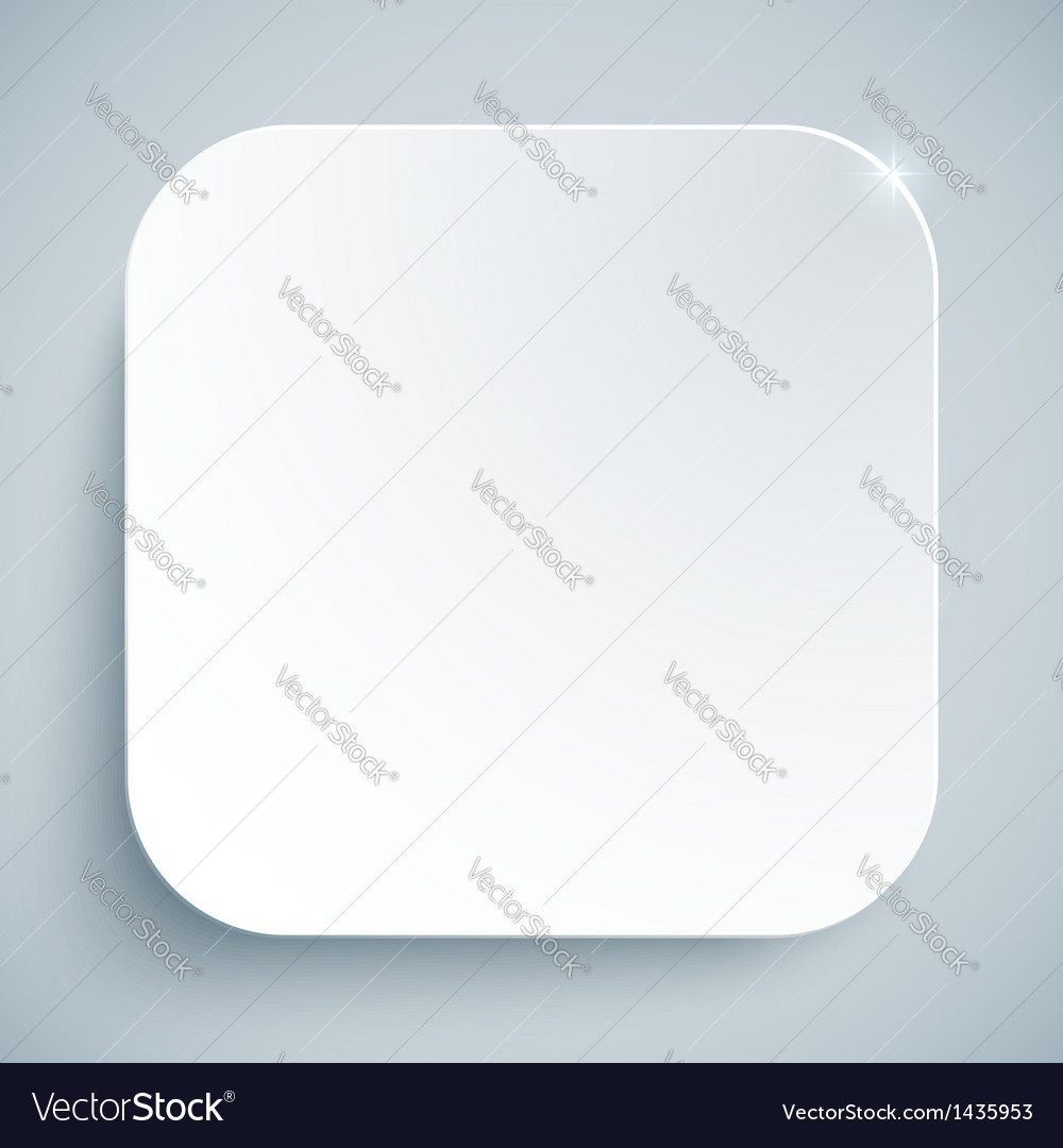 White standard icon empty template vector