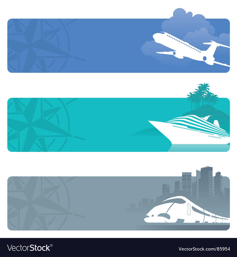 Travel banners vector