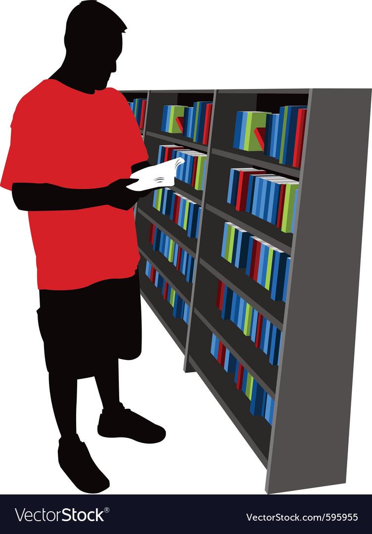 Bookstore shopper vector
