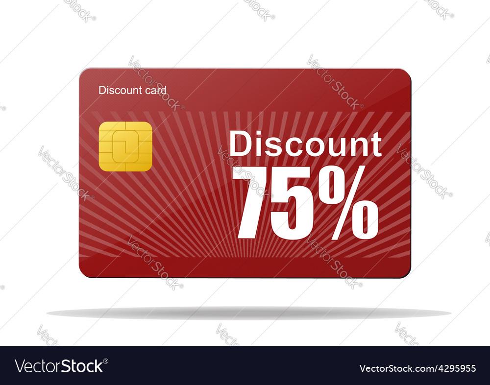 Discount card sale percent vector