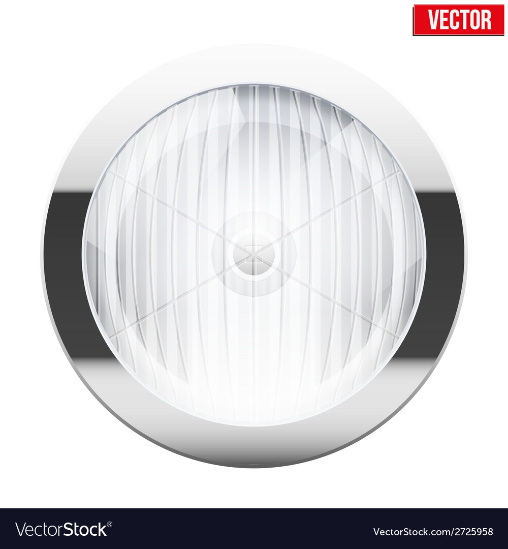 Round car headlight vintage vector