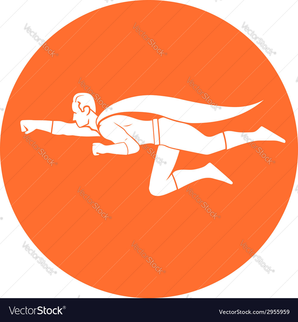 Superhero flight vector
