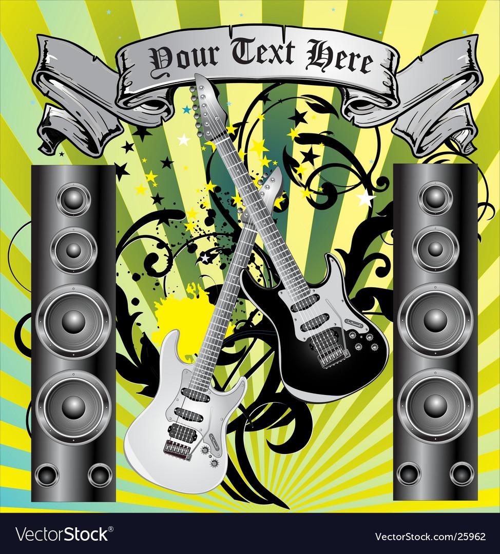 Loudspeaker grunge background vector