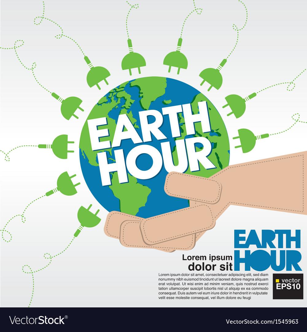 Earth hour conceptual eps10 vector