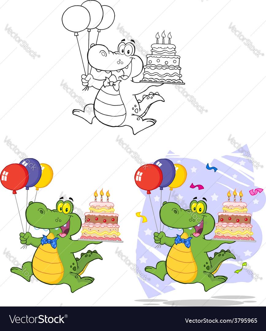 Crocodile cartoon design vector