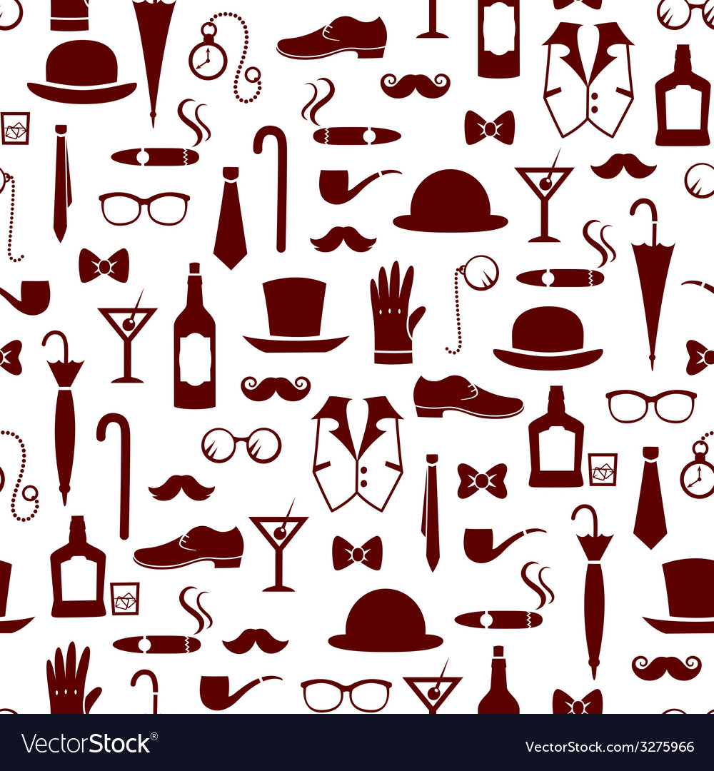Vintage manly items vector