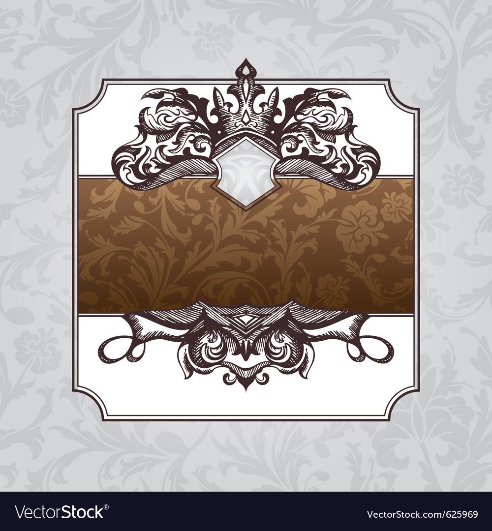 Royal ornate vintage frame vector