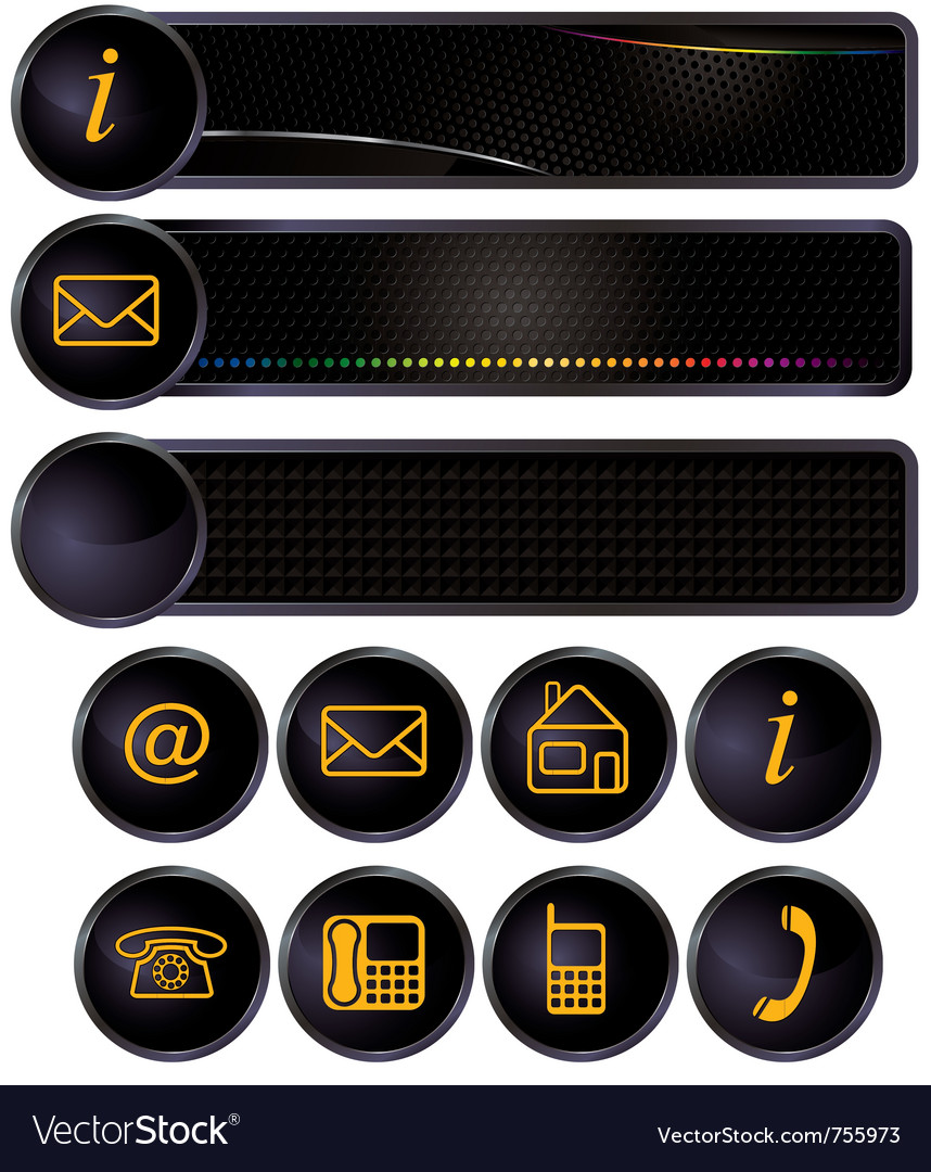 Address and telephones vector