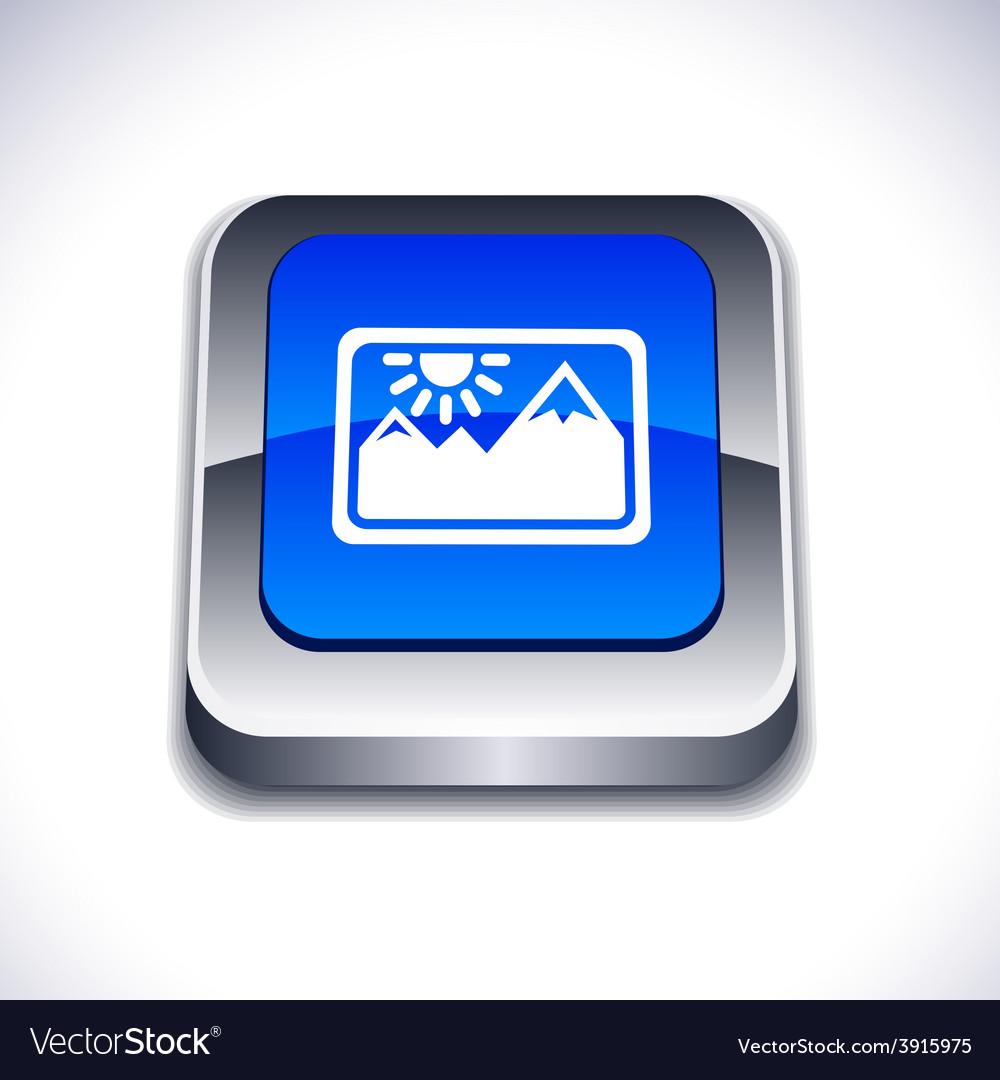 Picture 3d button vector