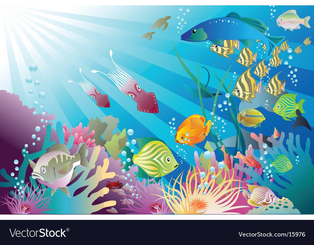 Under the sea again vector