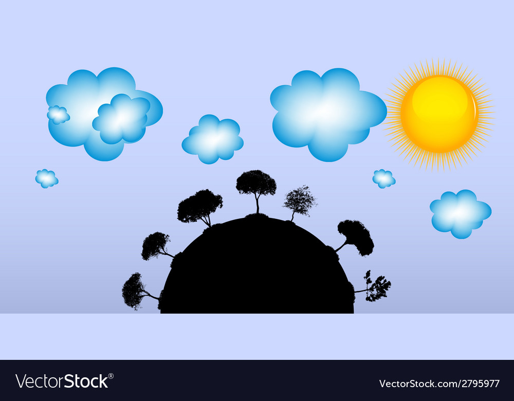 Abstract silhouette tree vector