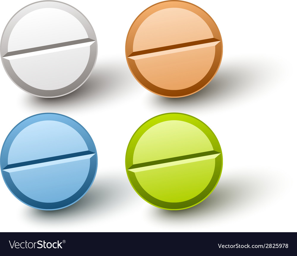 Stylish colored pills vector