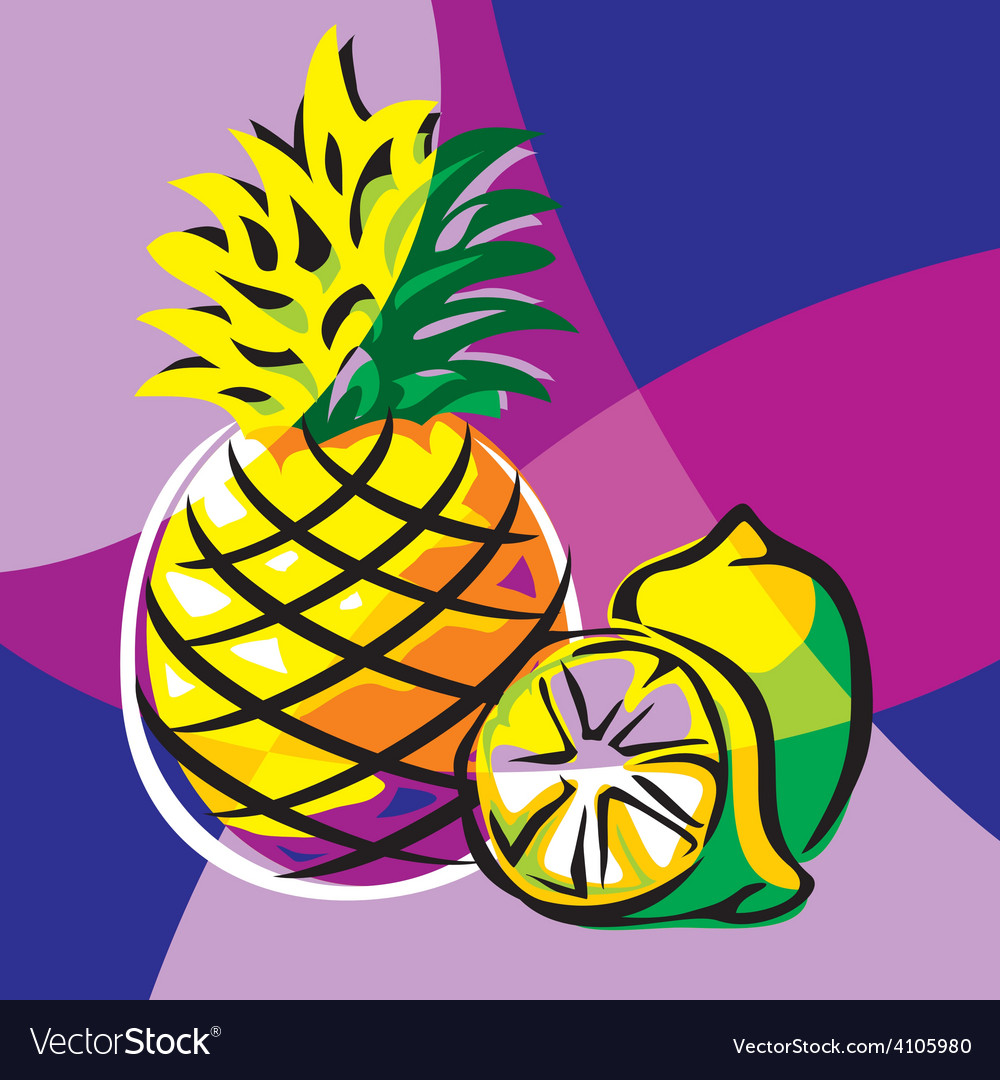 Pineapple lime vector