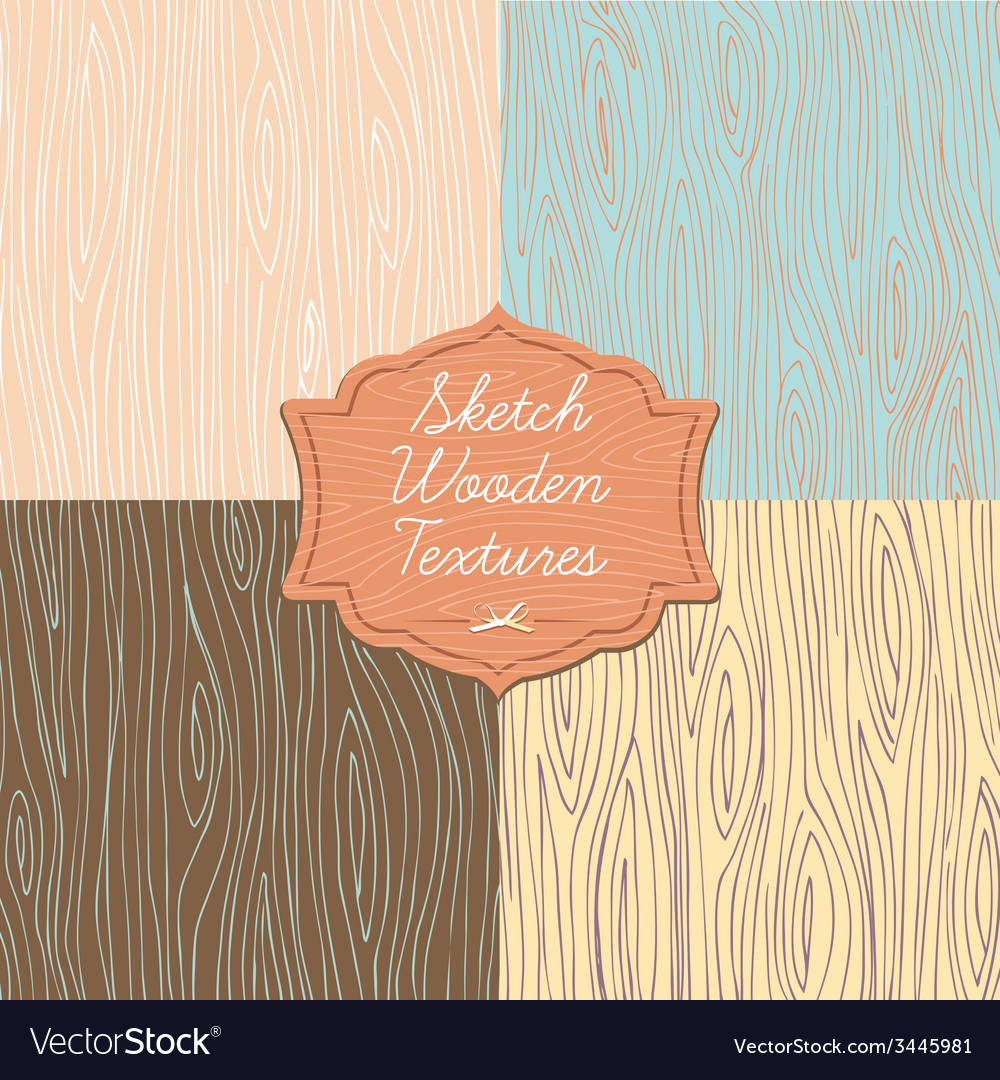 Art wooden texture with signboard vector