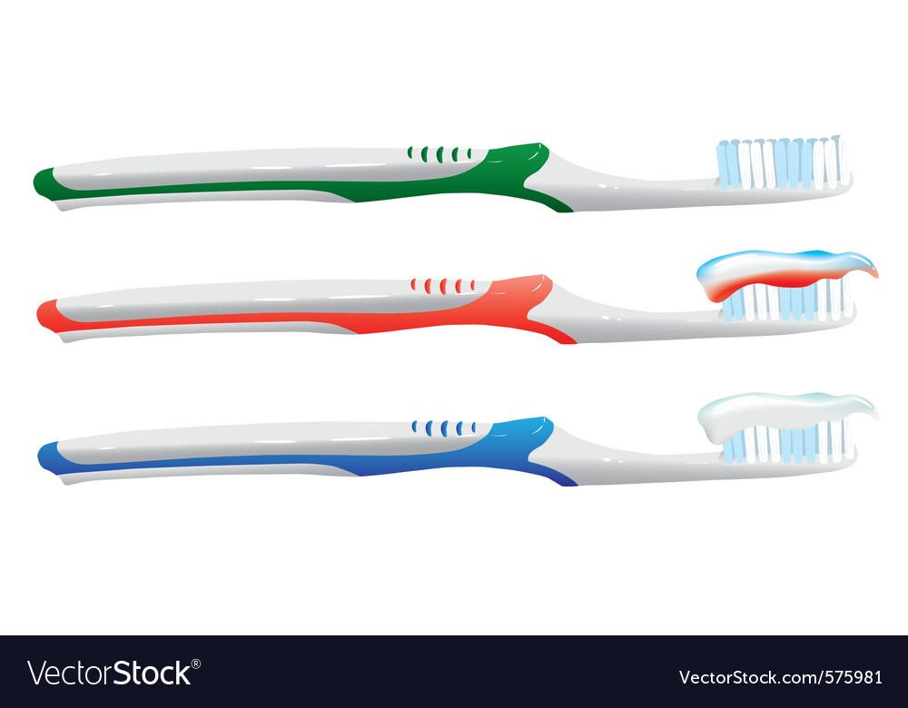 Toothbrush set vector