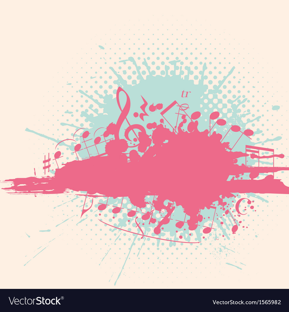 Retro musical background vector