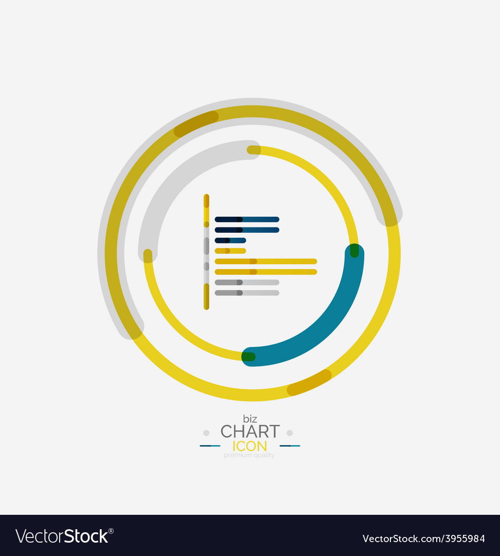 Line graph chart icon vector