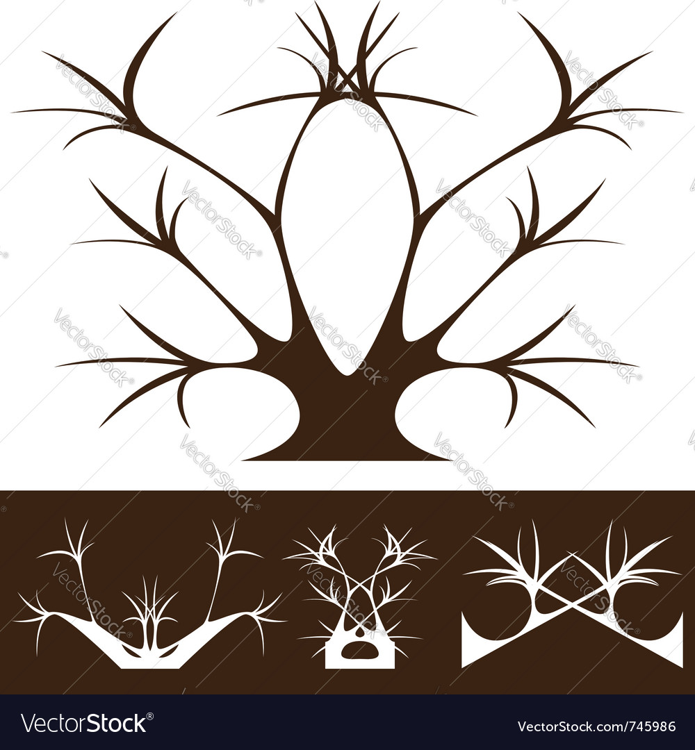 Tree decor vector