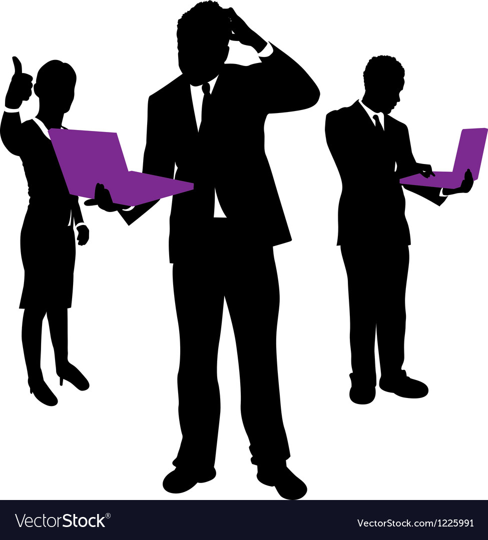 Business people computers vector