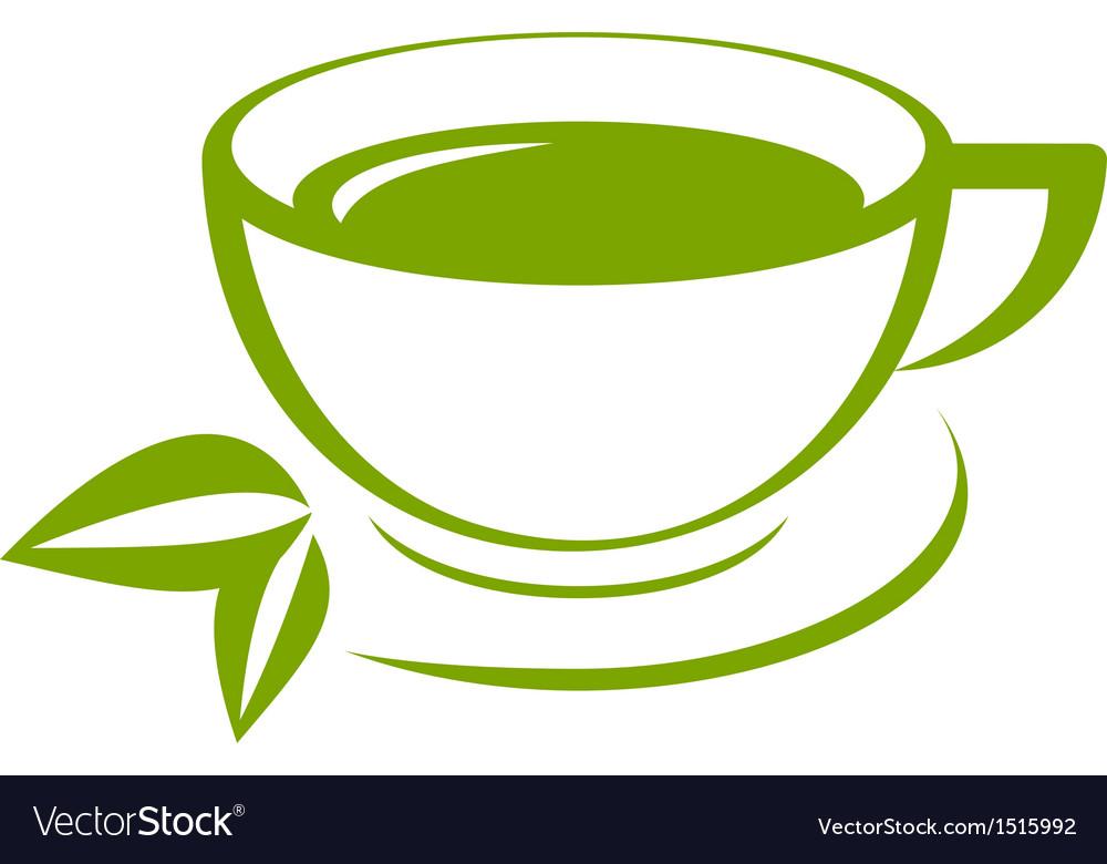Green tea icon vector