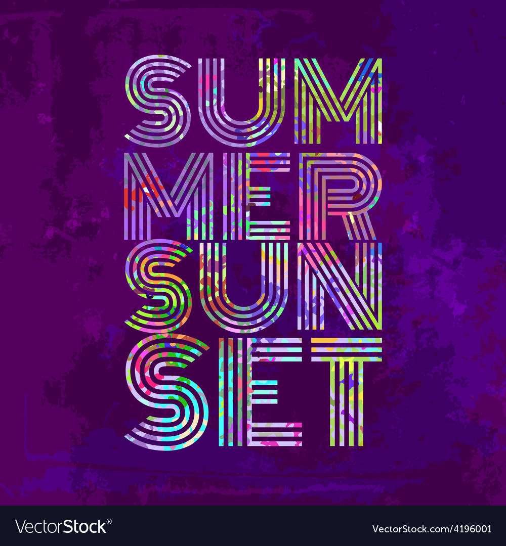Endless summer - artwork for wear in custom colors vector