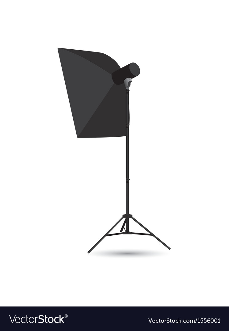 Studio lighting isolated on the white background vector