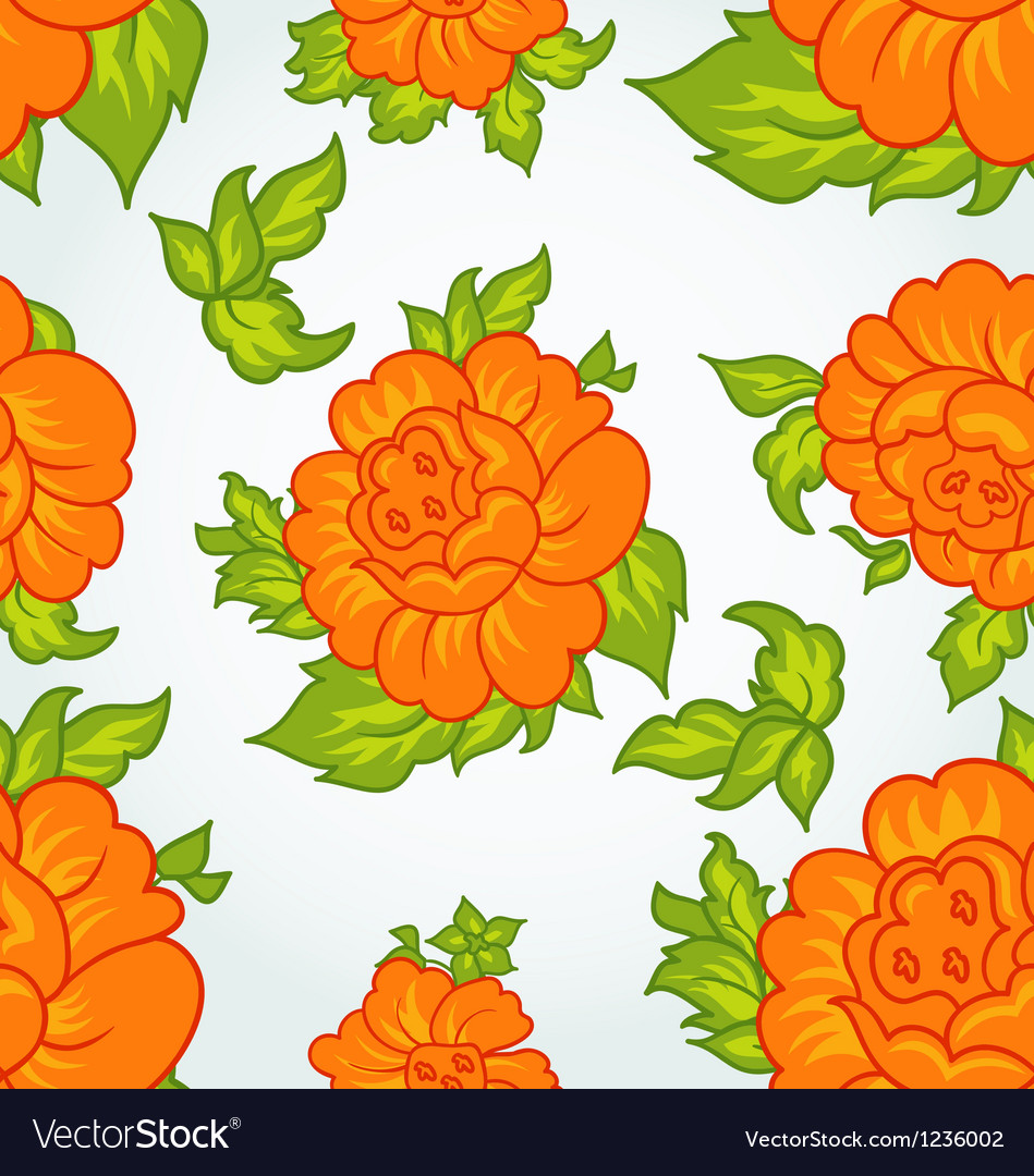 Cute flower seamless background vector