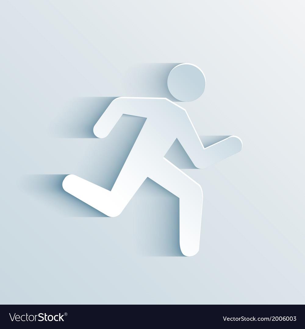 Running sign vector