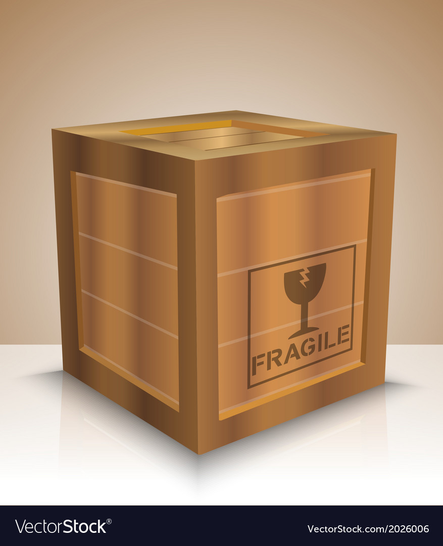 Fragile crate vector