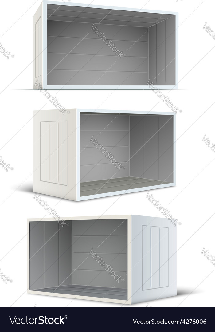 Set of white empty wooden vector