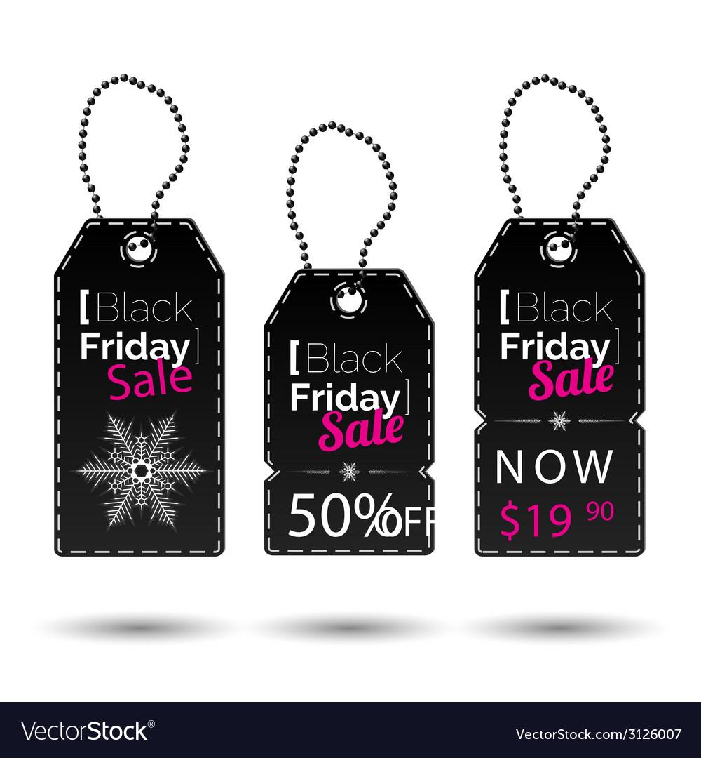 Black friday tags vector