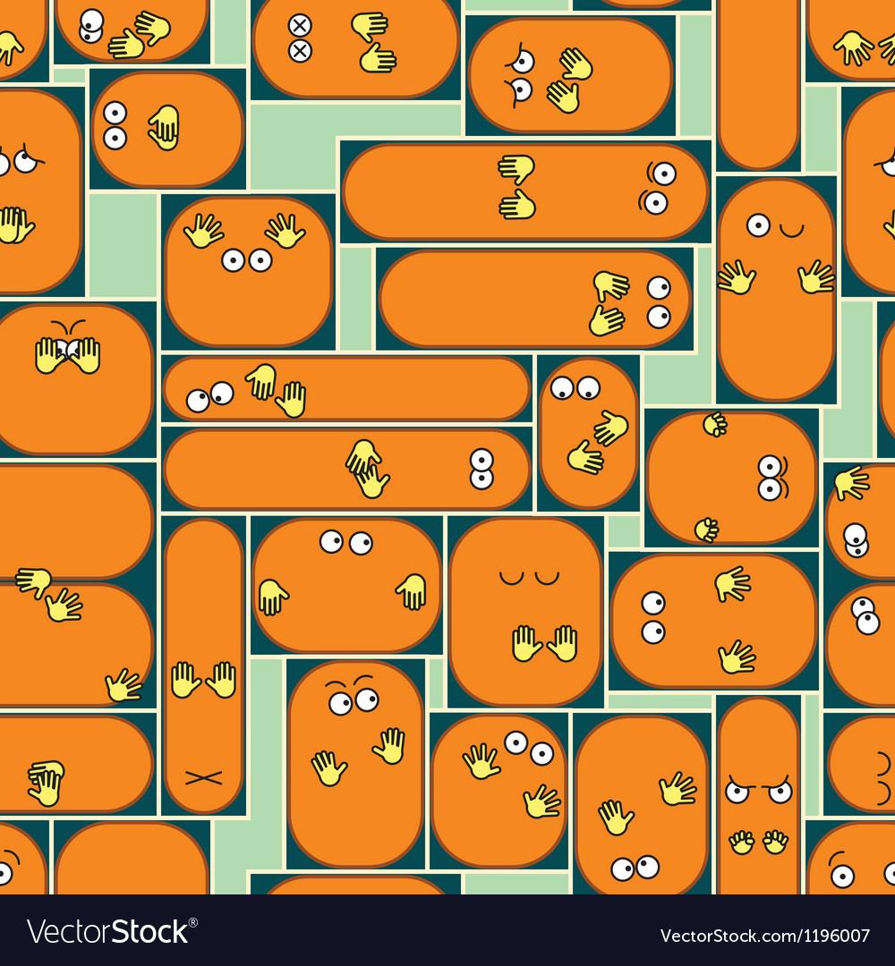 Cartoon cramped space background vector