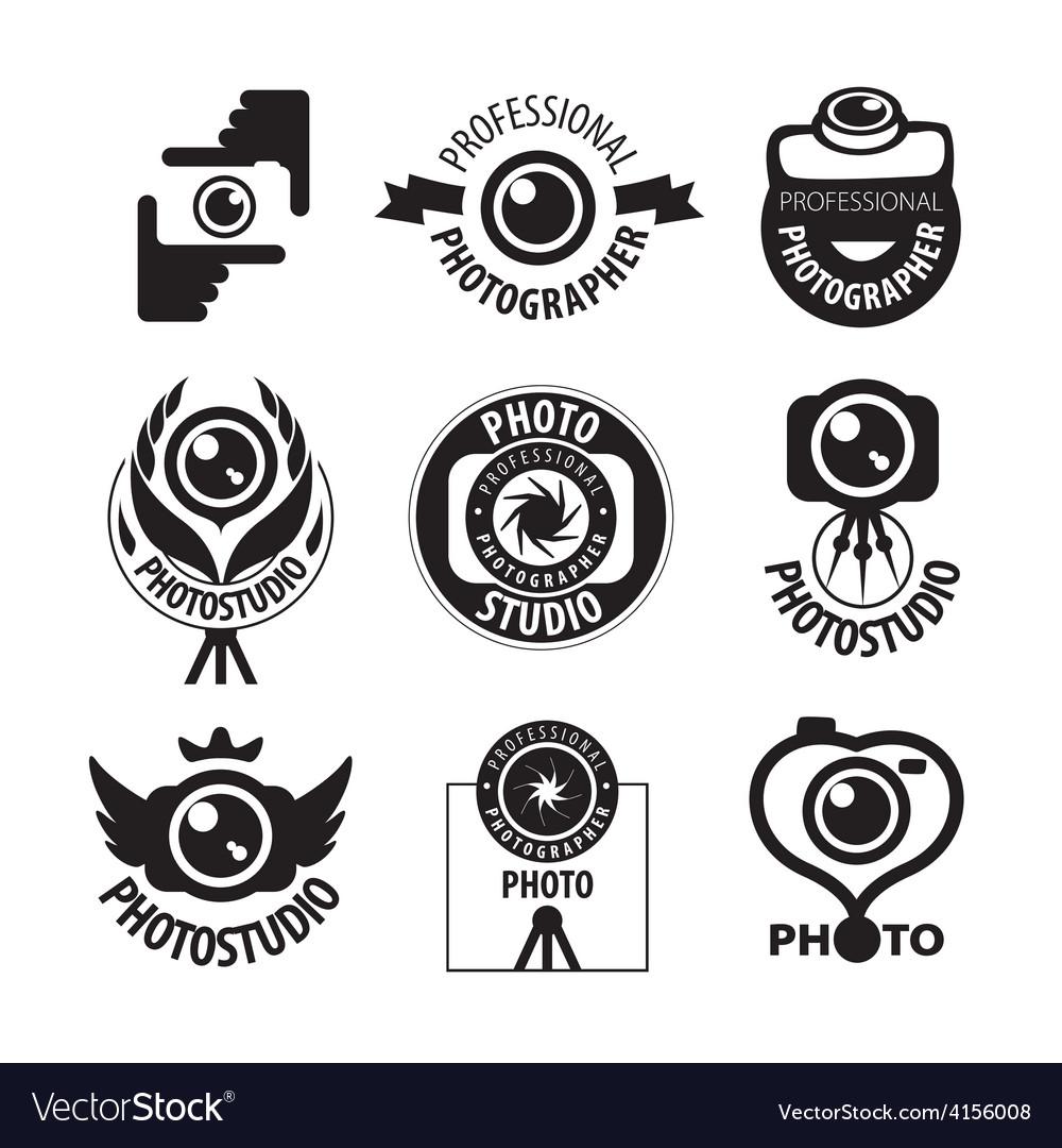 Big set of logos for professional photographer vector