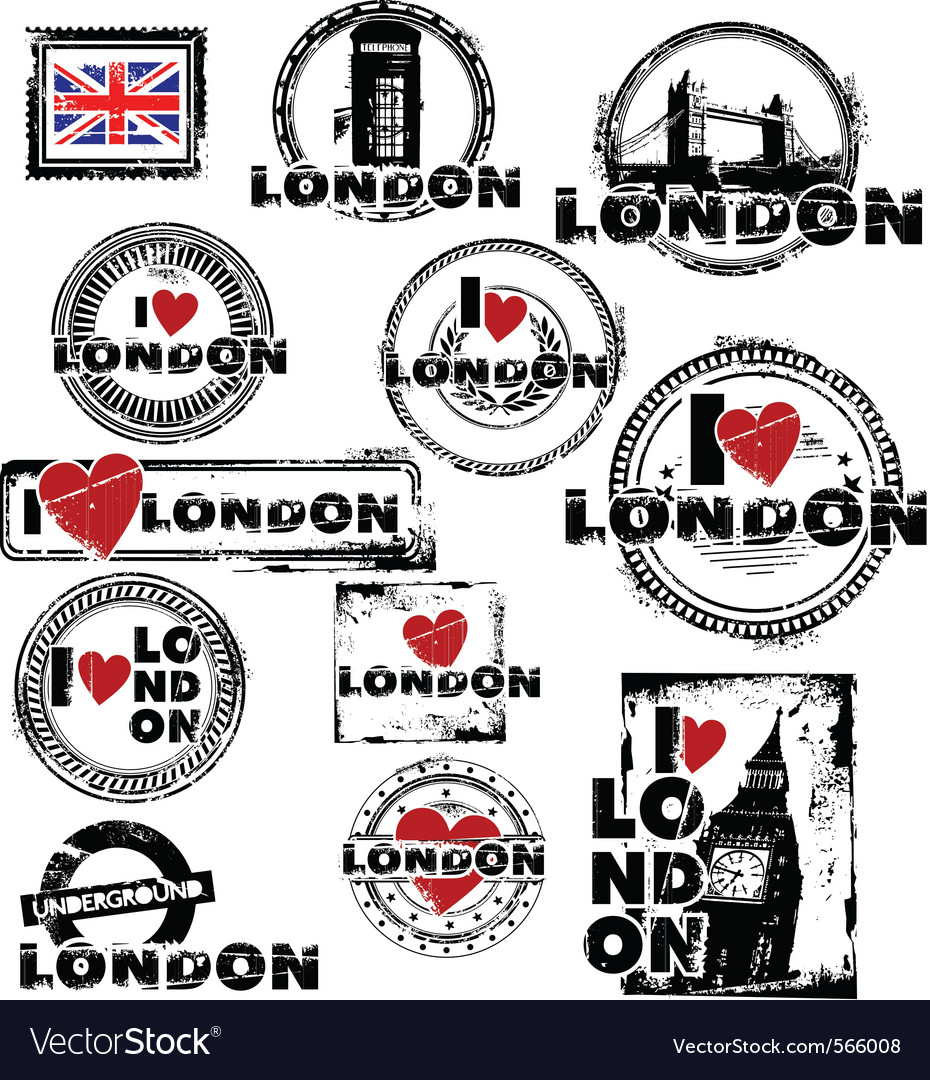London stamps vector