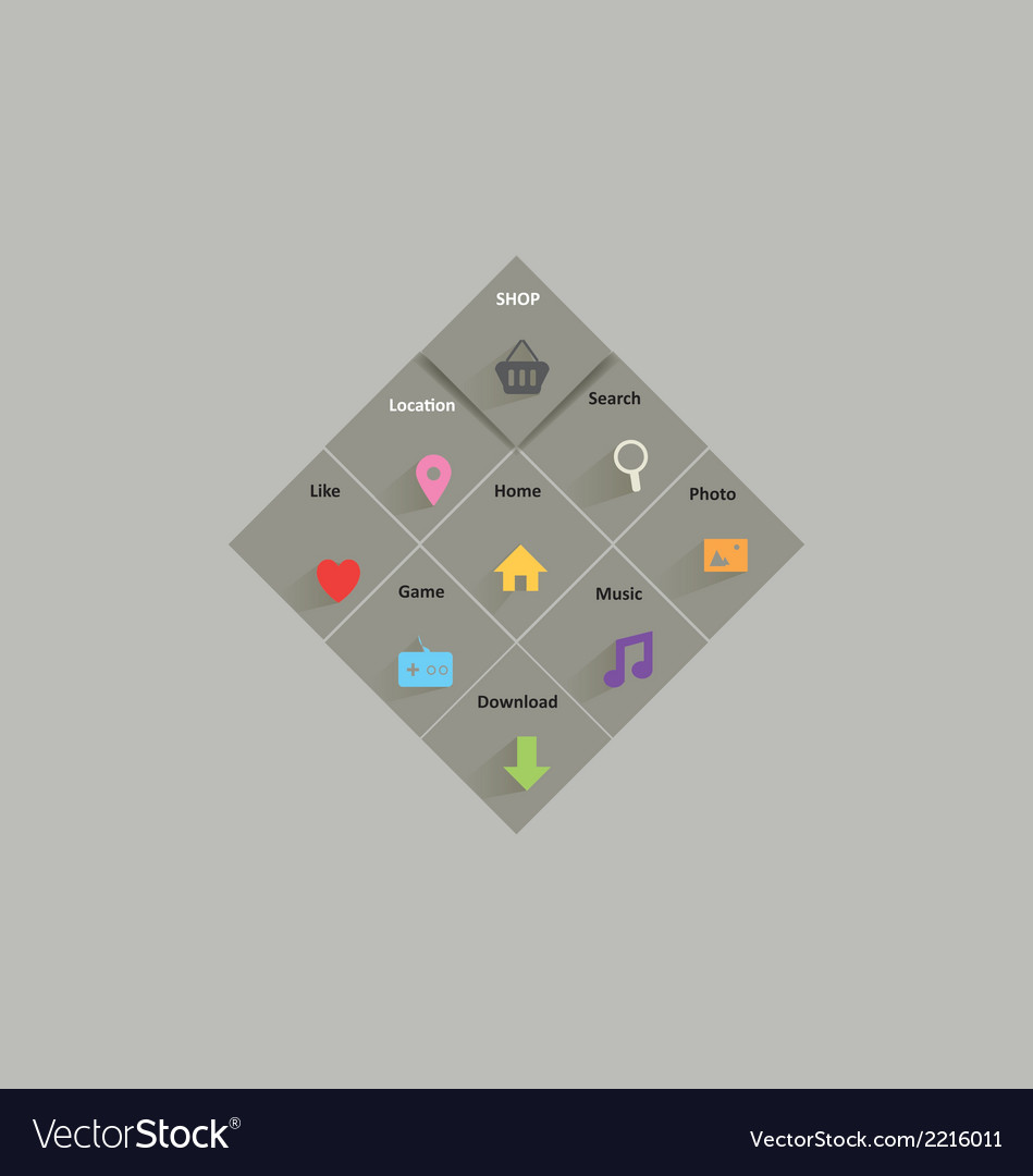 Menu with icons vector