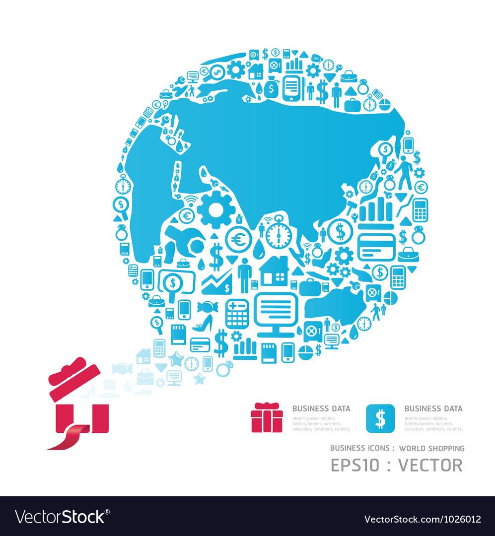 World shopping icon vector